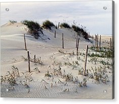 The Sands Of Obx Acrylic Print by Greg Reed