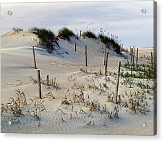 The Sands Of Obx II Acrylic Print by Greg Reed