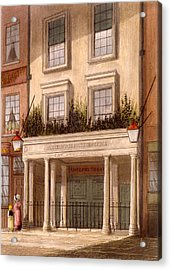 The Sans Pareil Theatre, 1826 Acrylic Print by Daniel Havell