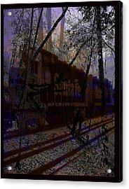 Acrylic Print featuring the digital art The Santa Fe by Cathy Anderson