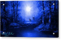 The Sapphire Forest Acrylic Print by Michael Rucker