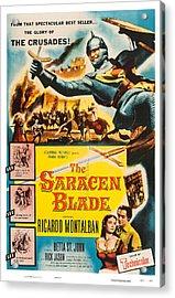 The Saracen Blade, Us Poster Art Acrylic Print by Everett