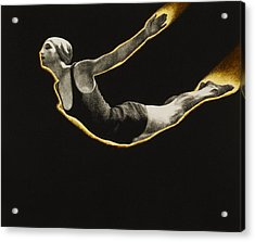 The Sawn Dive Circa 1939 Acrylic Print by Aged Pixel