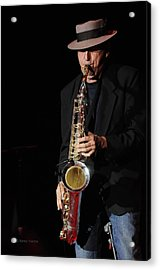 The Sax Man Acrylic Print by Kenny Francis