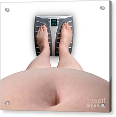 The Scale Says Series Fat Ass Acrylic Print by Amy Cicconi