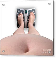 The Scale Says Series Ur Fat Acrylic Print by Amy Cicconi