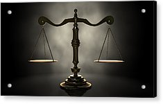 The Scales Of Justice Acrylic Print by Allan Swart