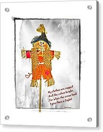 The Scarecrow Acrylic Print by Susan Leggett