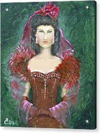 The Scarlet Dress Acrylic Print