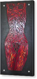 The Scarlet Woman Acrylic Print by Alison Edwards