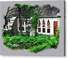The Schoolhouse At The Clearing - Ellison Bay - Door County Wisconsin Acrylic Print by David Blank