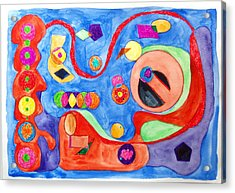 Acrylic Print featuring the painting The Science Of Shapes 1 by Esther Newman-Cohen