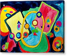 Acrylic Print featuring the painting The Science Of Shapes 2 by Esther Newman-Cohen