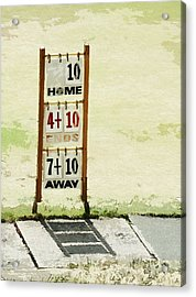 The Score Board Acrylic Print by Steve Taylor