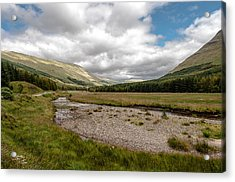Acrylic Print featuring the photograph The Scotish Landscape by Sergey Simanovsky