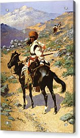 The Scout Friends Or Enemies Acrylic Print by Frederic Remington