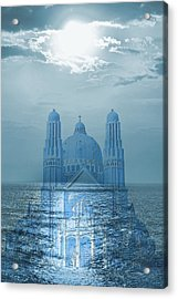 The Sea Church Acrylic Print by Angel Jesus De la Fuente
