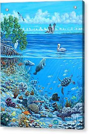 The Sea Is Calling Acrylic Print by Danielle  Perry