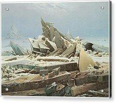 The Sea Of Ice Acrylic Print by Caspar David Friedrich