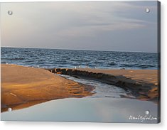 Acrylic Print featuring the photograph The Sea Overcomes by Robert Banach