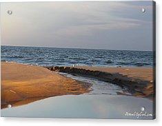 The Sea Overcomes Acrylic Print by Robert Banach