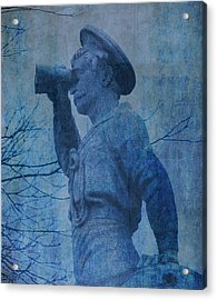 The Seaman In Blue Acrylic Print by Lesa Fine