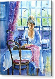 The Seamstress Acrylic Print by Trudi Doyle