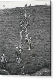 The Search For Bodies On The Moors Goes On Acrylic Print by Retro Images Archive