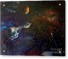 The Search For Earth Acrylic Print by Murphy Elliott