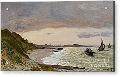 The Seashore At Sainte Adresse Acrylic Print by Claude Monet
