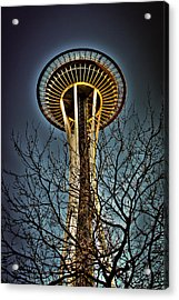The Seattle Space Needle Iv Acrylic Print by David Patterson
