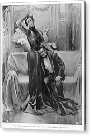 The Second Mrs Tanqueray, Eleonora Duse Acrylic Print by  Illustrated London News Ltd/Mar