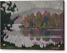 The Second Pond Acrylic Print by Len Stomski