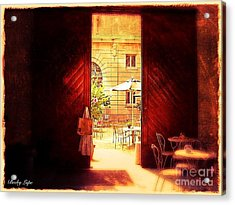 The Secret Courtyard  Acrylic Print by Becky Lupe