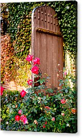 The Secret Door  Acrylic Print by Allan Millora