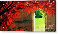 Acrylic Print featuring the painting The Secret Garden by Janet McDonald