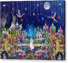 The Secret Garden Acrylic Print by Peggi Wolfe