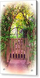 The Secret Gardens Gate Acrylic Print by Becky Lupe