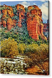 Acrylic Print featuring the photograph The Secret Mountain Wilderness In Sedona Back Country by Bob and Nadine Johnston