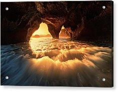 The Secret Sea Cave Acrylic Print