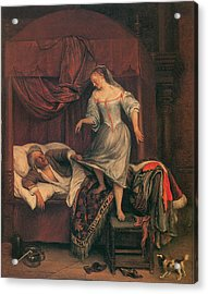 The Seduction Acrylic Print by Jan Steen