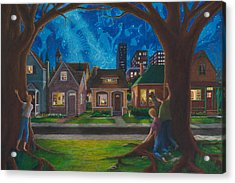 Acrylic Print featuring the painting The Seed The Price And The Conflict by Matt Konar