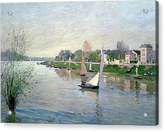 The Seine At Argenteuil Acrylic Print by Alfred Sisley