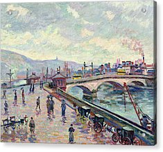 The Seine At Rouen Acrylic Print by Jean Baptiste Armand Guillaumin
