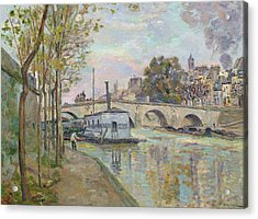 The Seine In Paris  Acrylic Print by Jean Baptiste Armand Guillaumin