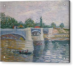 The Seine With The Pont De La Grande Jatte Acrylic Print