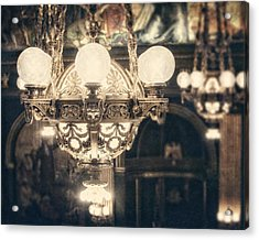 The Senate Chandeliers  Acrylic Print by Lisa Russo