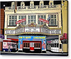 The Senator Theatre Acrylic Print by Paul Guyer