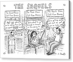 The Sequels 3 Panels Parodying A Book Called Acrylic Print