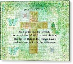 The Serenity Prayer  Acrylic Print